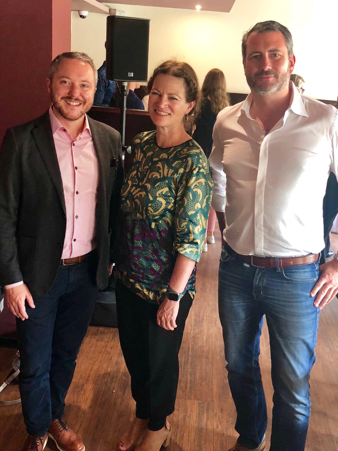 Hanni Rützler und die Geschäftsführer Jan Burlon Baumgaertner und Alexander May in Frankfurt auf der suche nach foodtrends 2019