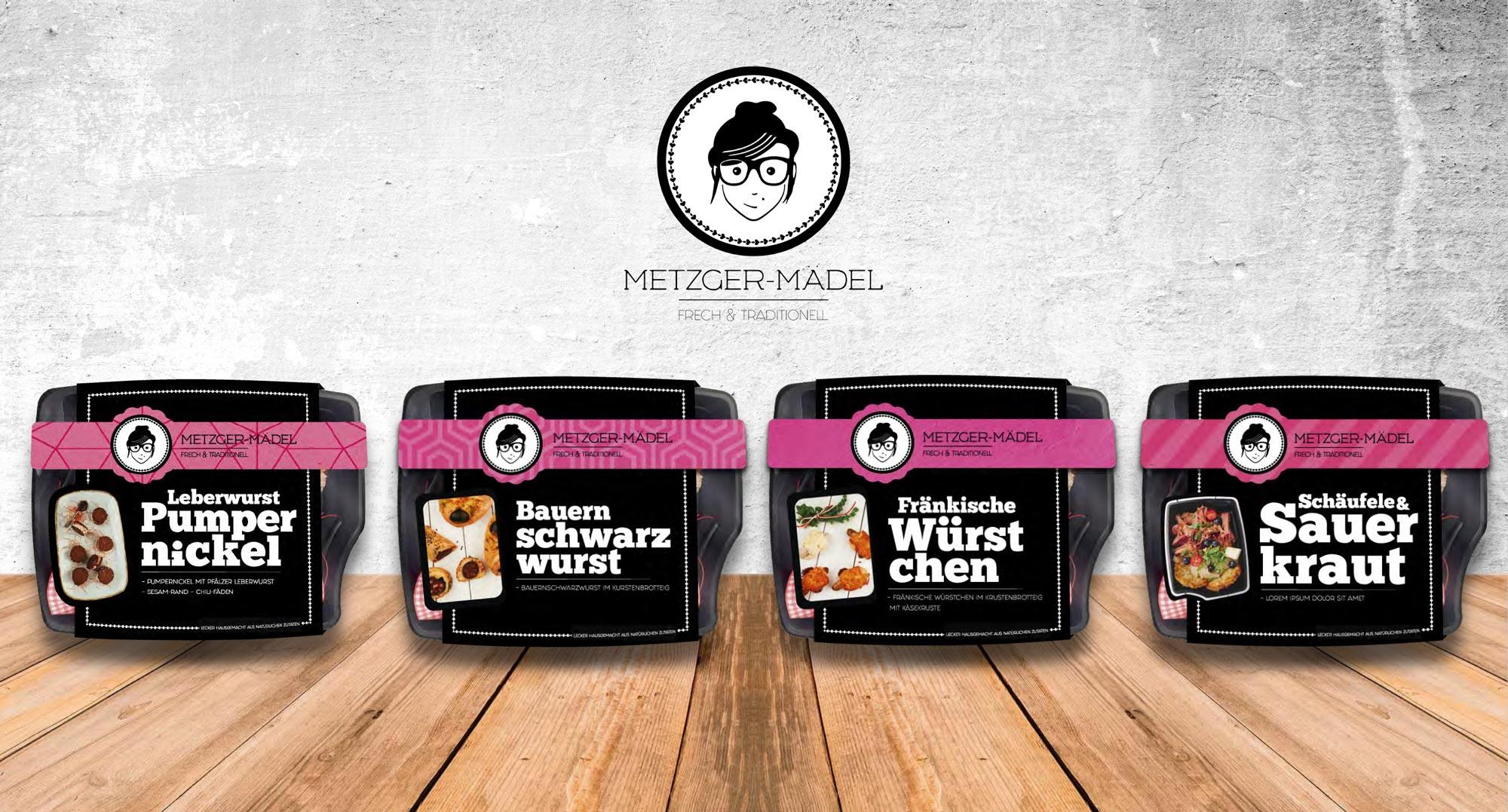Verpackungsdesign Edeka Metzger Mädel alle Verpackungen im Überblick